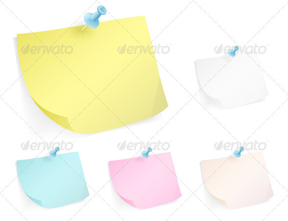 GraphicRiver Post-It Note 4027512