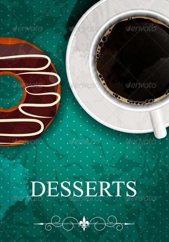 Vector dessert menu - Miscellaneous Vectors