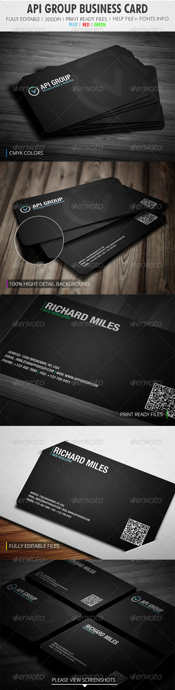Api Group Business Card - Corporate Business Cards