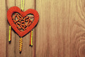 Red heart on the wood background - PhotoDune Item for Sale