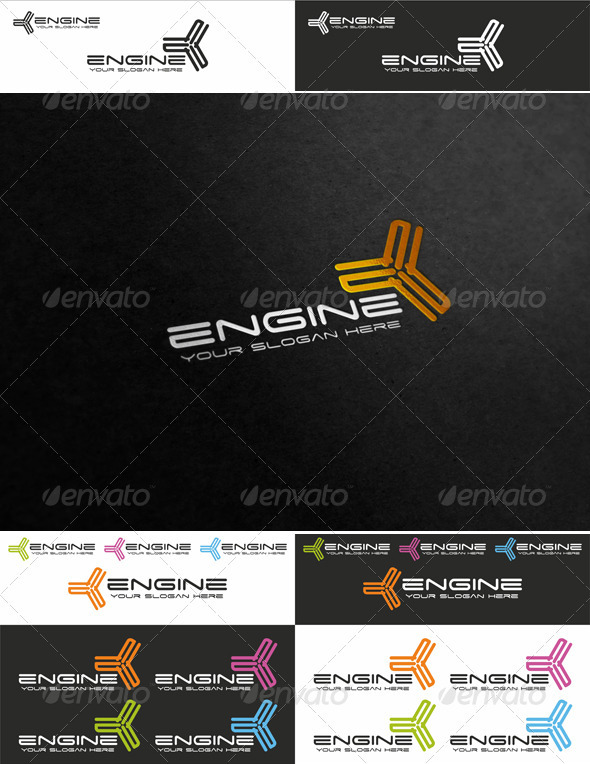 Engine Business Logo Template - Objects Logo Templates