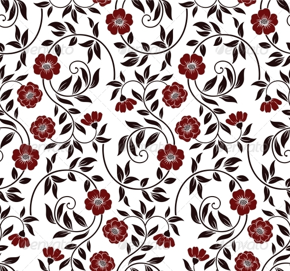 GraphicRiver Seamless floral background 4027909