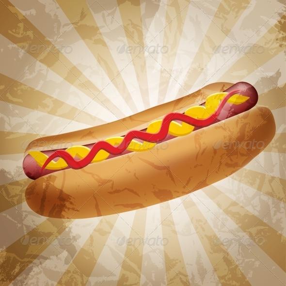 GraphicRiver Realistic hot dog vector illustration 4027948