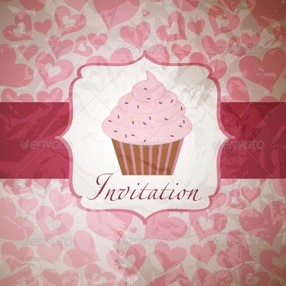 GraphicRiver cupcake invitation background 4027960