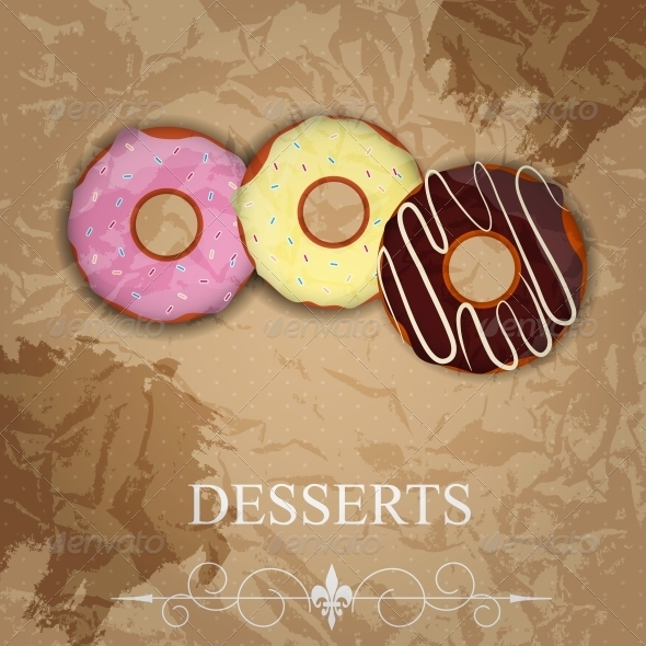 Vector dessert menu - Food Objects