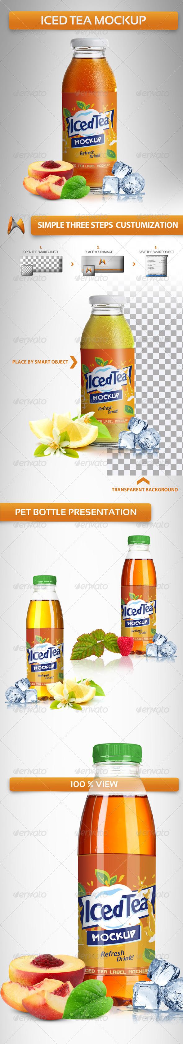 GraphicRiver Iced Tea Mockup 4027970