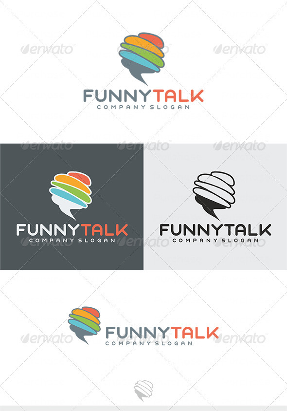 Funny Talk Logo - Vector Abstract