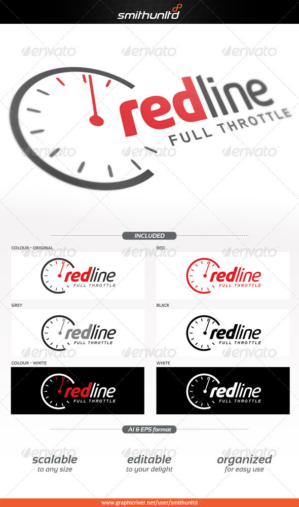 Redline - Full throttle Logo template - Objects Logo Templates