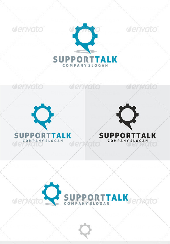 Support Talk Logo - Symbols Logo Templates