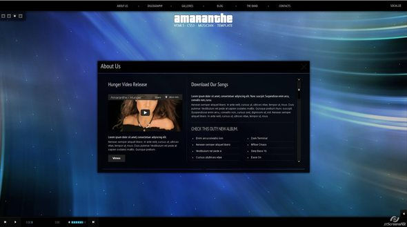 Ritualhealing Musician Template HTML5 CSS3 - Music and Bands Entertainment