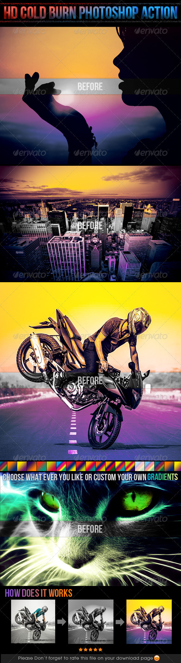 GraphicRiver HD Cold Burn Photoshop Action 3936236