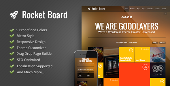 Rocket Board - Metro WordPress Theme - Blog / Magazine WordPress