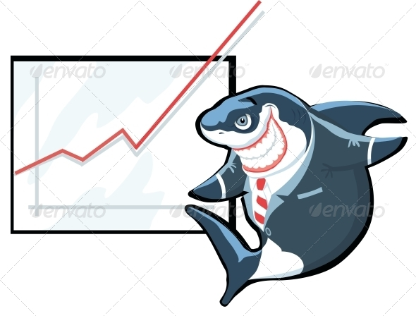 GraphicRiver Shark of Business 4030008