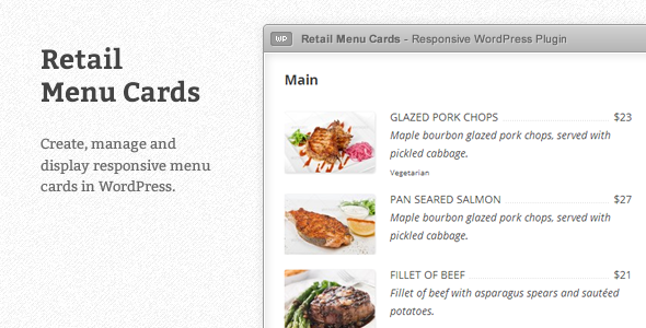 CodeCanyon Retail Menu Cards for WordPress 4028450