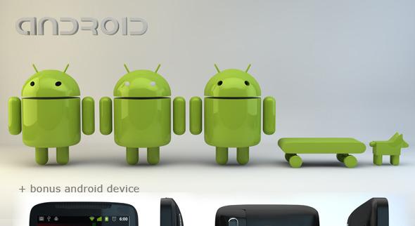 Andriod Model Pack  - 3DOcean Item for Sale