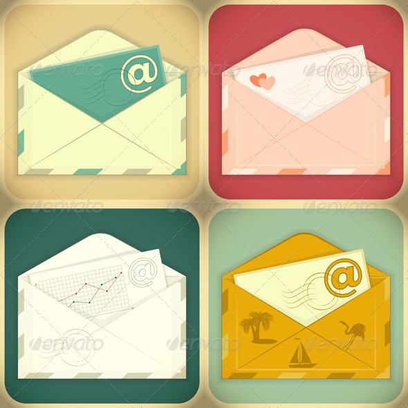 GraphicRiver Set of Email Concept 4030474
