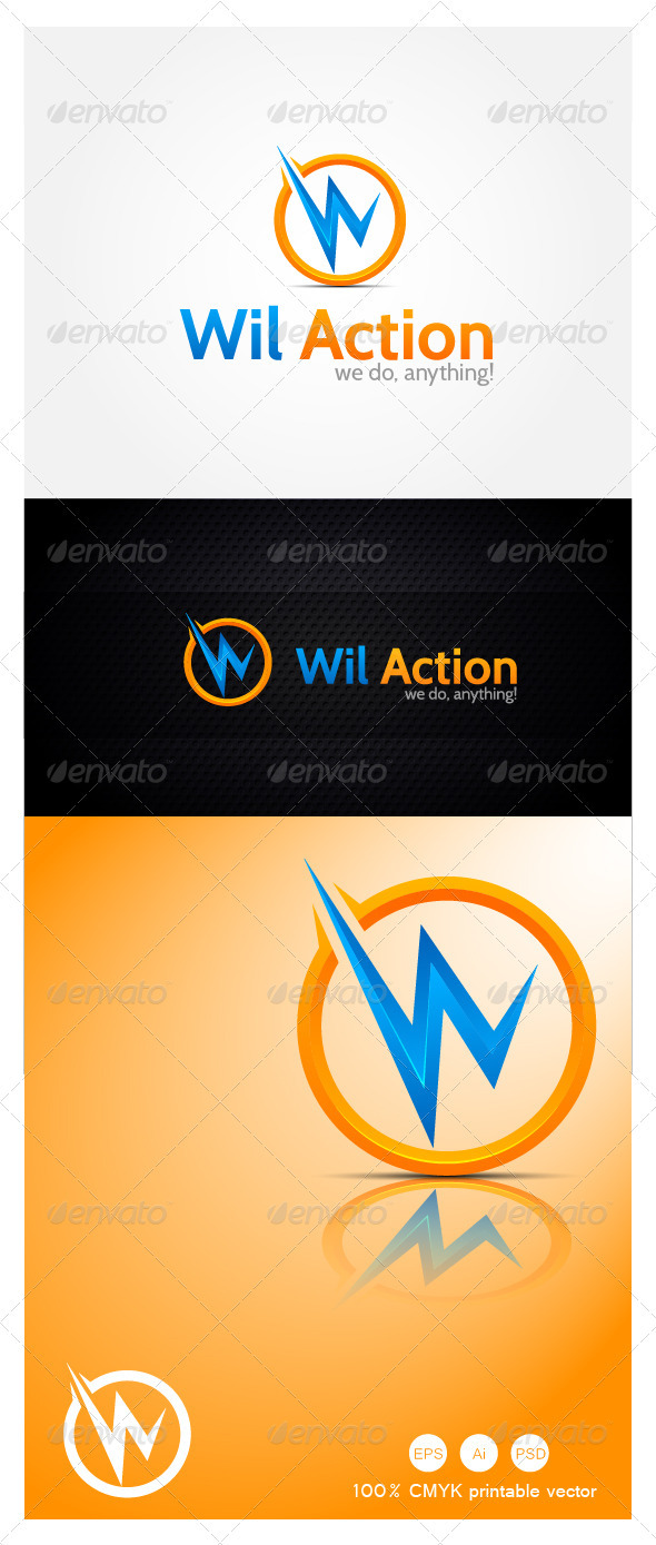 Will Action Logo - Letters Logo Templates