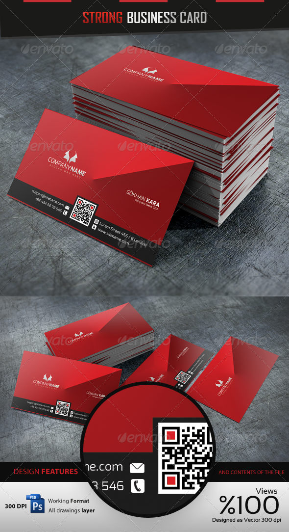 GraphicRiver Strong Business Card 3921929