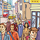 Street Crowd - GraphicRiver Item for Sale