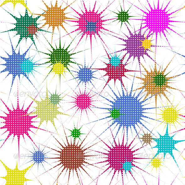 GraphicRiver Abstract Colorful Stars 4030597