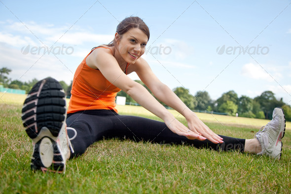Stock Photo - PhotoDune Woman stretching at the park 435937