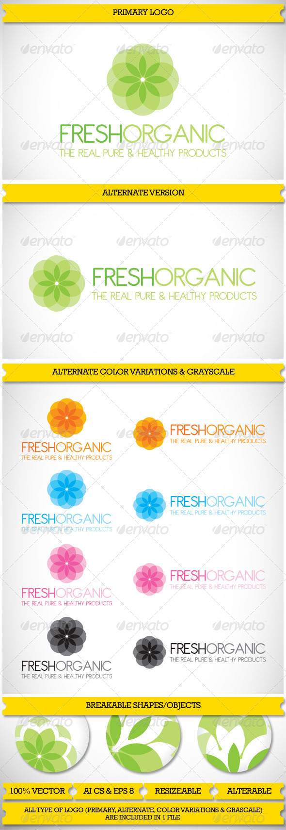 GraphicRiver Organic & Nature Logo 3875531