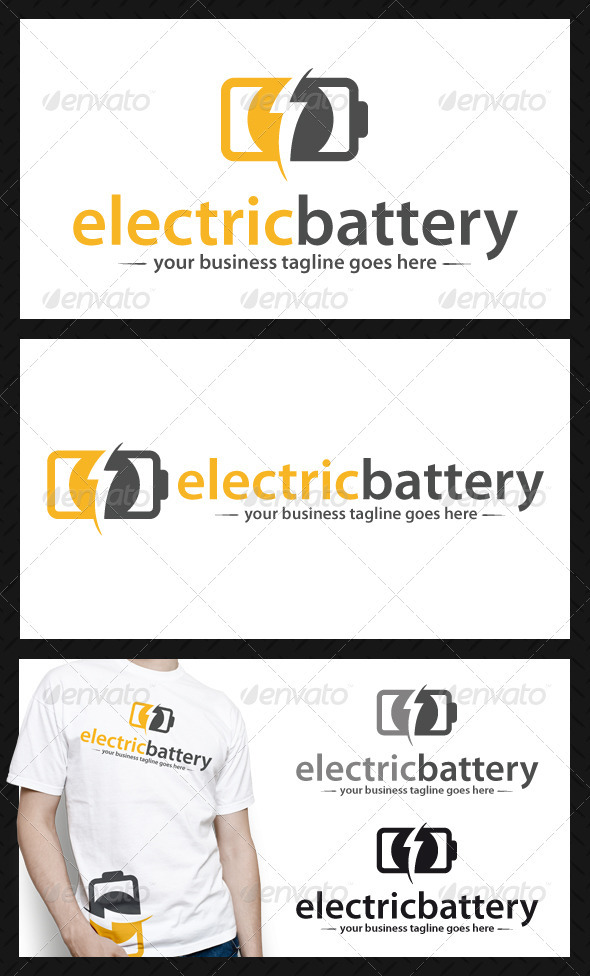 GraphicRiver Electric Battery Logo Template 4031776