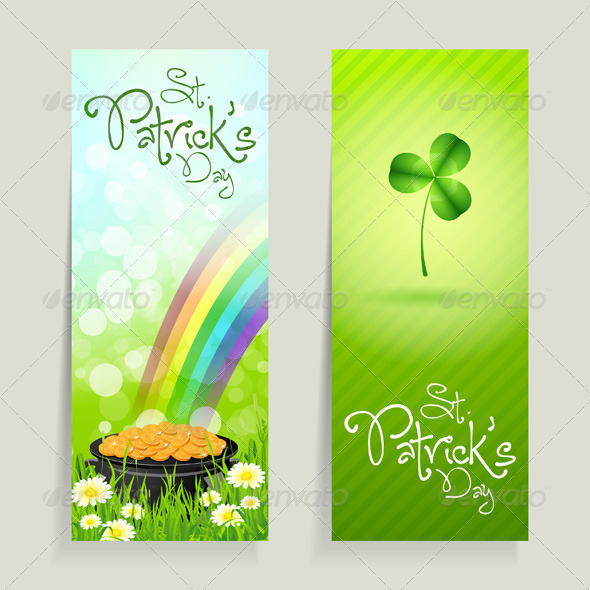 GraphicRiver Set of St Patricks Day Cards 4031820