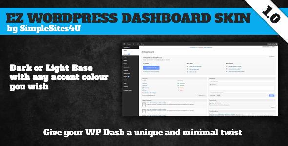 CodeCanyon EZ WordPress Dashboard Skin 4032220