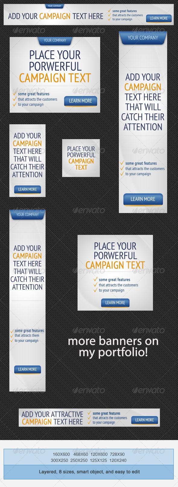 GraphicRiver Web Marketing PSD Banner Ad Template 4032508