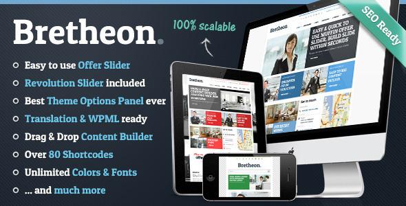 ThemeForest Bretheon Premium WordPress Theme 4001061