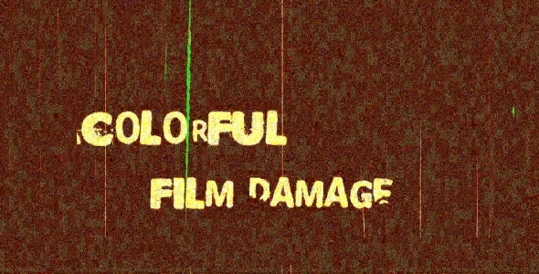 Colorful Film Damage 4-Pack