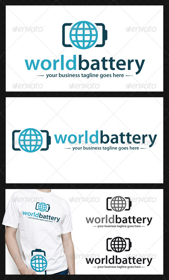 GraphicRiver World Battery Logo Template 4033151