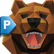 Stylish Vector Head Bear - GraphicRiver Item for Sale