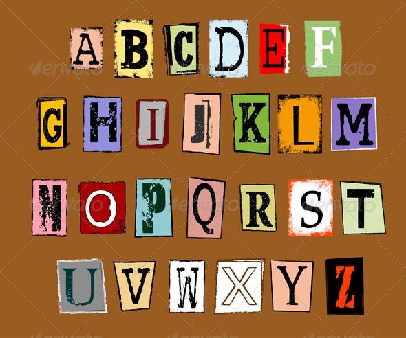 PhotoDune grunge alphabet 4082592