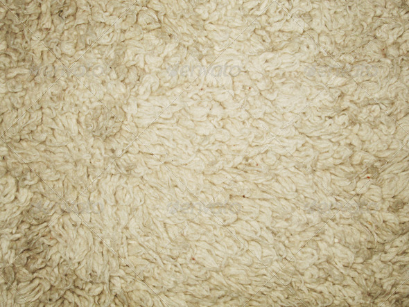 Wool in natural color 1 - Stock Photo - Images