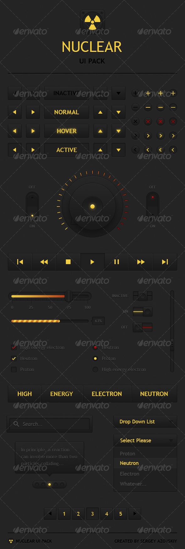 GraphicRiver Nuclear UI Pack 3924355