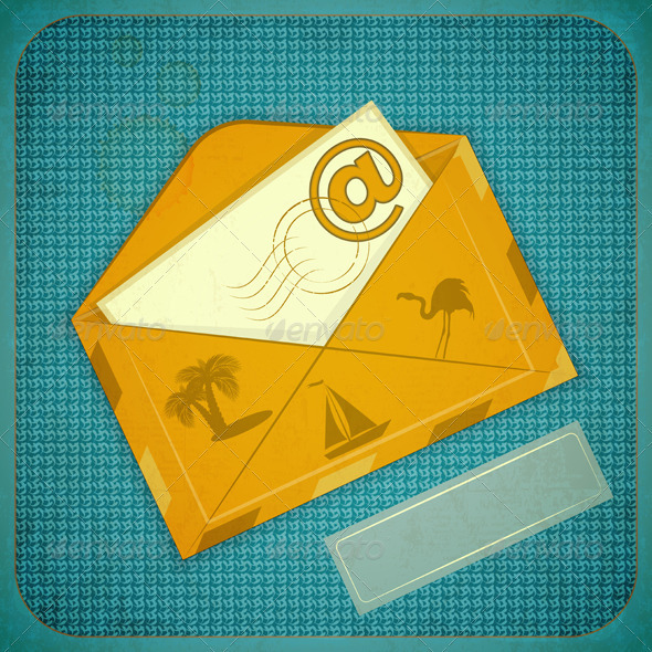 GraphicRiver Travel Card with Yellow Envelope 4033656
