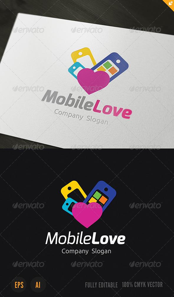 GraphicRiver Mobile Love Logo 3701579
