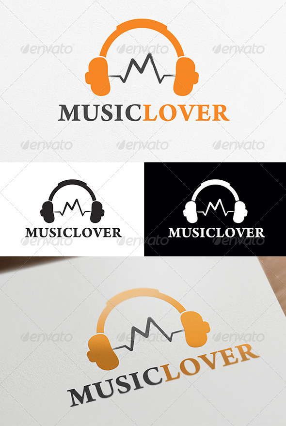 GraphicRiver Music Lover Logo Template 4034087
