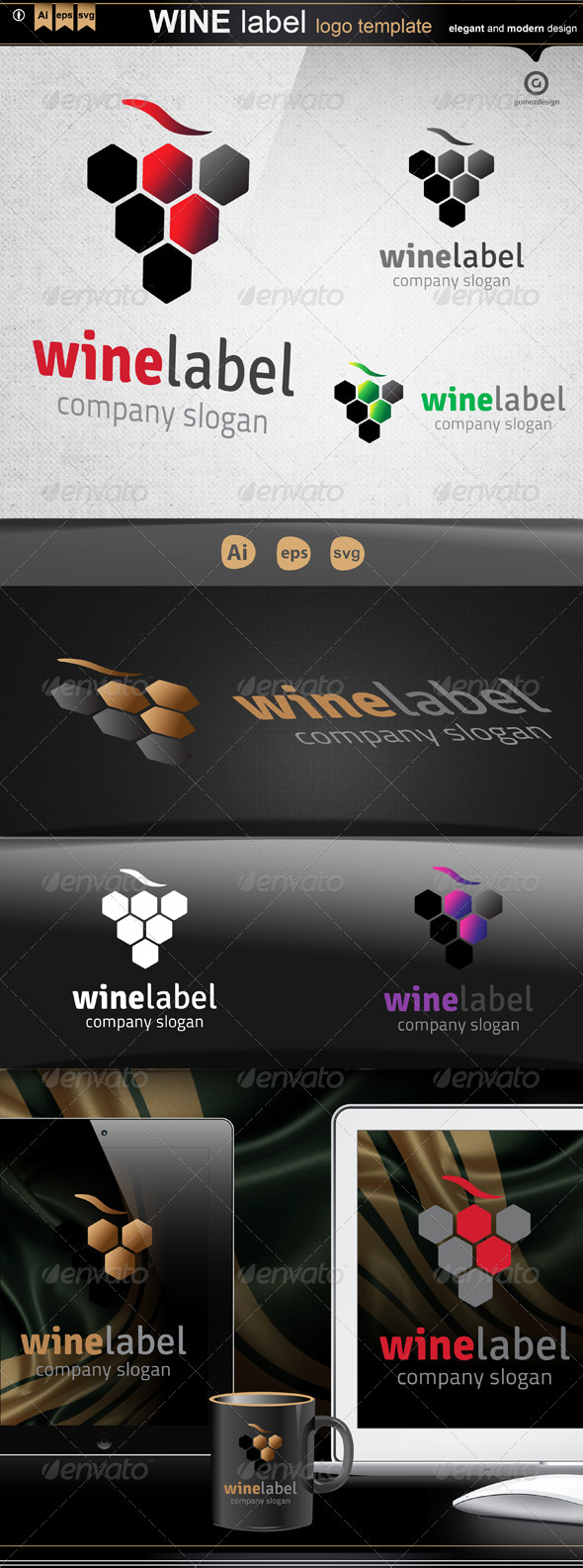 Wine Label - Logo Templates