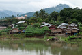Thailand Floating Town in Sangklaburi Kanchanaburi Thailand - PhotoDune Item for Sale