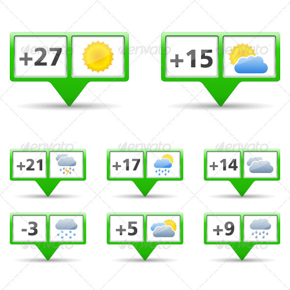GraphicRiver Weather Icons 4034300