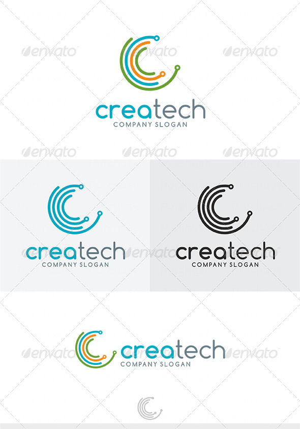 GraphicRiver Crea Tech Logo 4034314