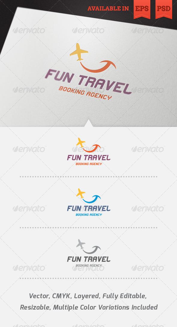 GraphicRiver Fun Travel Logo Template 4034503