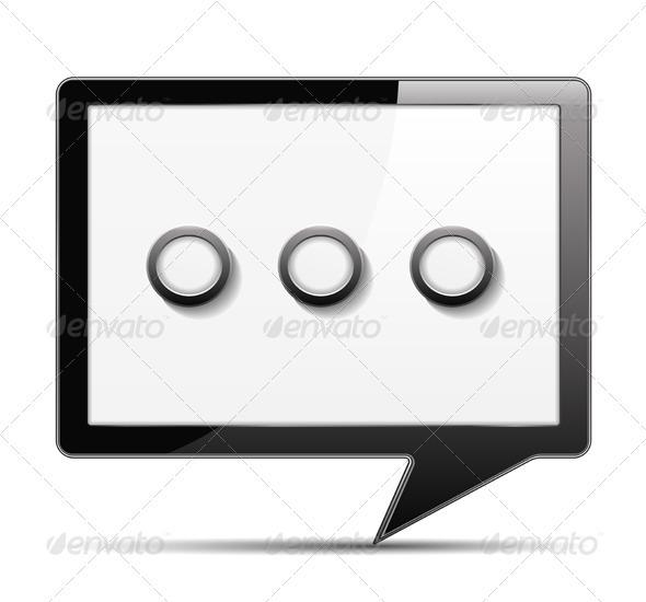 Speech Bubble Icon - Web Elements Vectors