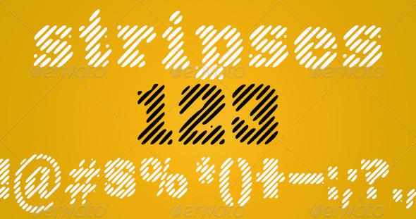 GraphicRiver Stripses Font 4034790