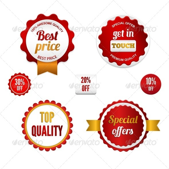 GraphicRiver Set of Sale Badges Labels and Stickers 4034947