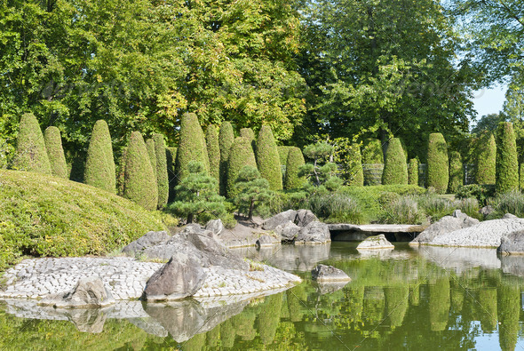 Japanese Garden - Stock Photo - Images