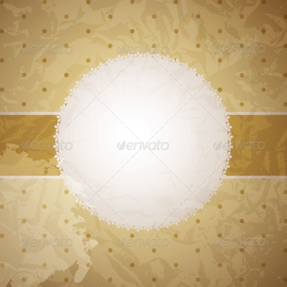 Vector greeting golden card or cover. Space for yo - Backgrounds Decorative